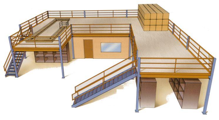Build A Mezzanine Storage : Mezzanines